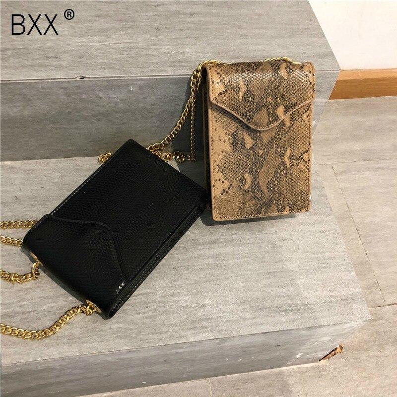 100% Wahr [bxx] Vintage Schlange Printig Kette Shell Schulter Handtaschen Frauen Pu Leder Crossbody-tasche Weibliche Serpentin Umhängetasche He160