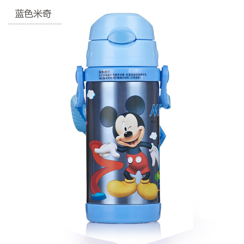 Image 2 - Disney Cute Cartoon 2019 New Fashion Portable Heat Preservation Cup Children Stainless Steel Sucker Water Kettle With Water Cup-in Cups from Mother & Kids