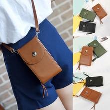 e7e46d9079 Diseño de marca de bolsos de las mujeres coreano Mini bolsa de teléfono celular  Simple de bolsas Crossbody bolsas Casual señoras.