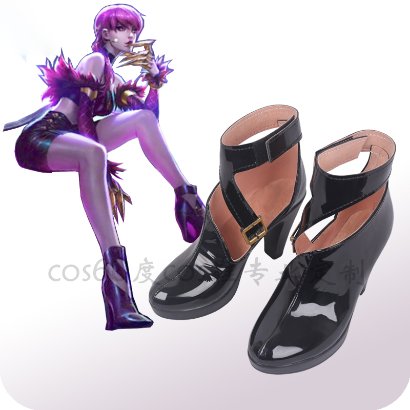 Game LOL KDA Eveylnn Cosplay Shoes LOL Evelynn Cosplay Boots for Women Cosplay Shoes K/DA Evelynn High-Heeled Shoes Boots