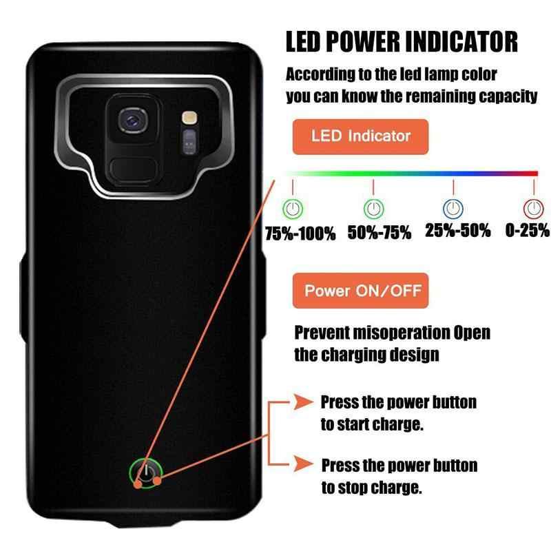 Etui z funkcją ładowania baterii do Samsung Galaxy S9Plus pojemności zewnętrzna etui do ładowania 7000mAh rozszerzony baterii etui ochronne r25