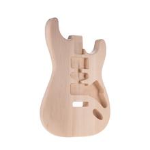 Muslady ST01-DT Unfinished E-gitarre Körper Handgefertigten Gitarre Körper BasswoodGuitar Barrel Ersatz Teile cheap CN (Herkunft) for Stratocaster guitar
