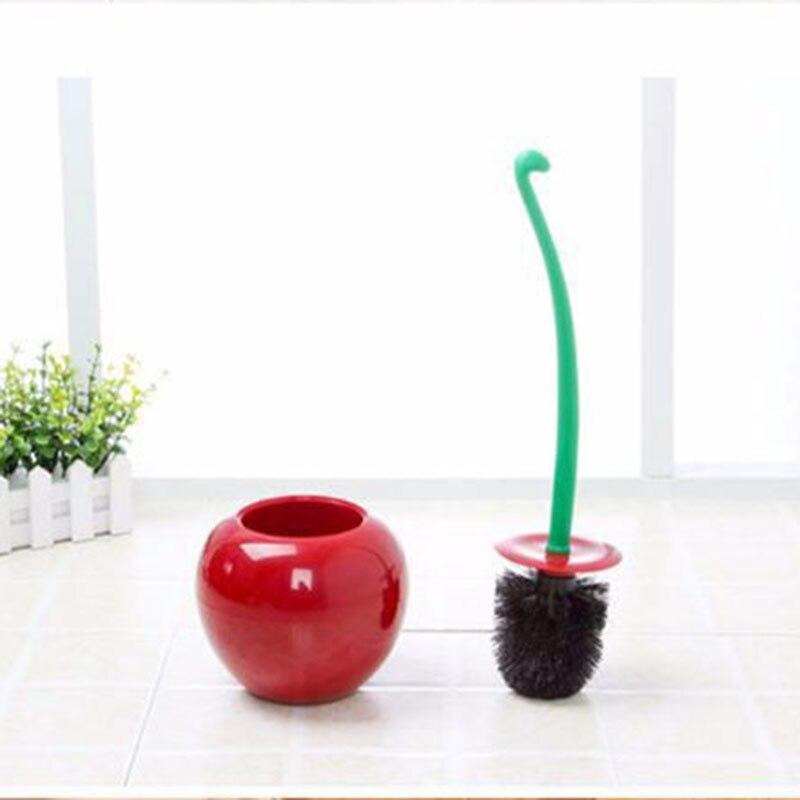 2 Pcs Hot Sale Creative Cherry Multifunction Toilet Brush Design Fit Hand Cleaning Tool Supplies Produtos Para Limpeza De Casa