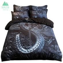 WAZIR Sanding Dark Dragon series bedding set duvet cover Pillowcases Home textile bedclothes comforter bedding sets