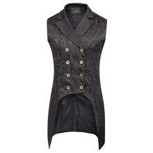 307ffba23 Hombres Vintage chaqueta 18th de hombres Steampunk FRAC chaqueta Jacquard estilo  gótico victoriano moda de lujo