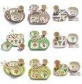 Новый Arrvial 5 шт. кэтбот мультфильм бамбуковое волокно детская посуда вилка для кормления посуда для детей чаша ложка тарелка столовая посуда