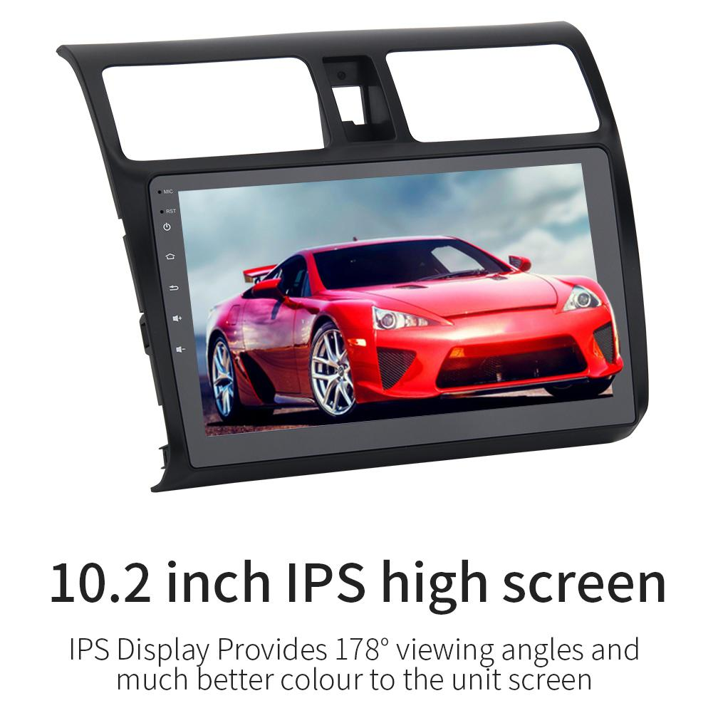 Car Multimedia Player Android 8.0 Autoradio MP5 Player Auto Radio Camera 1 Din 10.2in 1080 Touch Screen for Suzuki Swift 2005 10