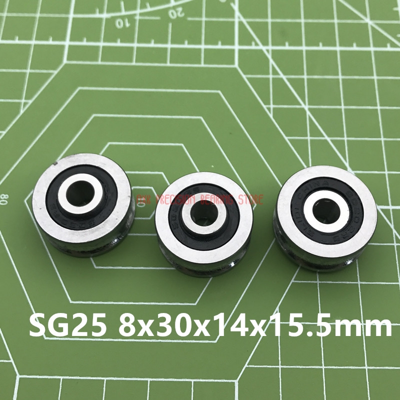 2019 Direct Selling Real Sg25 U Groove Bearing Steel Pulley Double Row Sealed Ball For 10mm Linear Guide Rail Track Roller