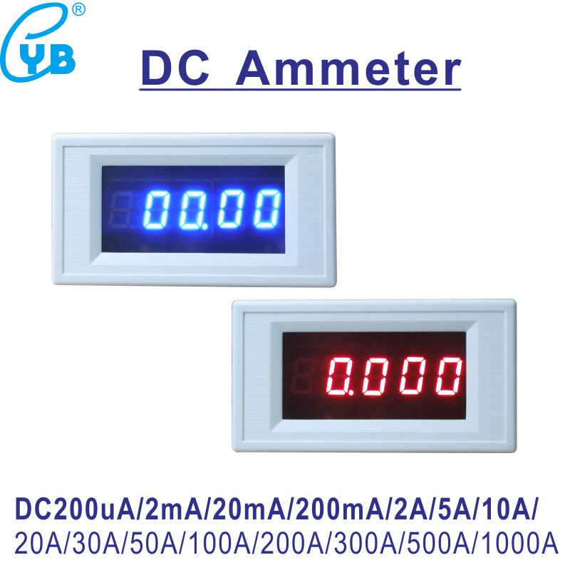 Yb5145a Dc Current Meter 200ua 2ma 20ma 200ma 2a 5a 10a 30a 50a 100a 300a 500a Amp Panel Meter 4 1/2 Led Digital Ammeter 5-digit Ample Supply And Prompt Delivery Tools Electrical Instruments
