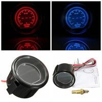 2 52mm Universal Auto Car 40 140 Celsius Red/Blue LED Water Temp Temperature Gauge Kit