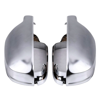 1 para lusterko wsteczne Shell pokrywa ochrona Cap Matte Chrome dla Audi A3 A4 A5