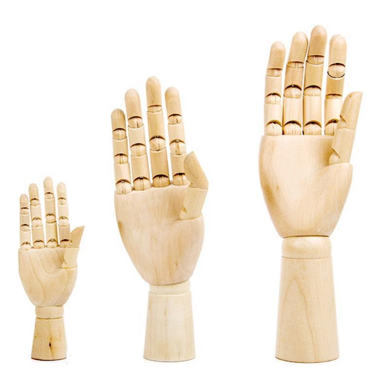 WSHYUFEI Tall Wooden Hand Drawing Sketch Mannequin Model Wooden Mannequin Hand Movable Limbs Human Artist Model