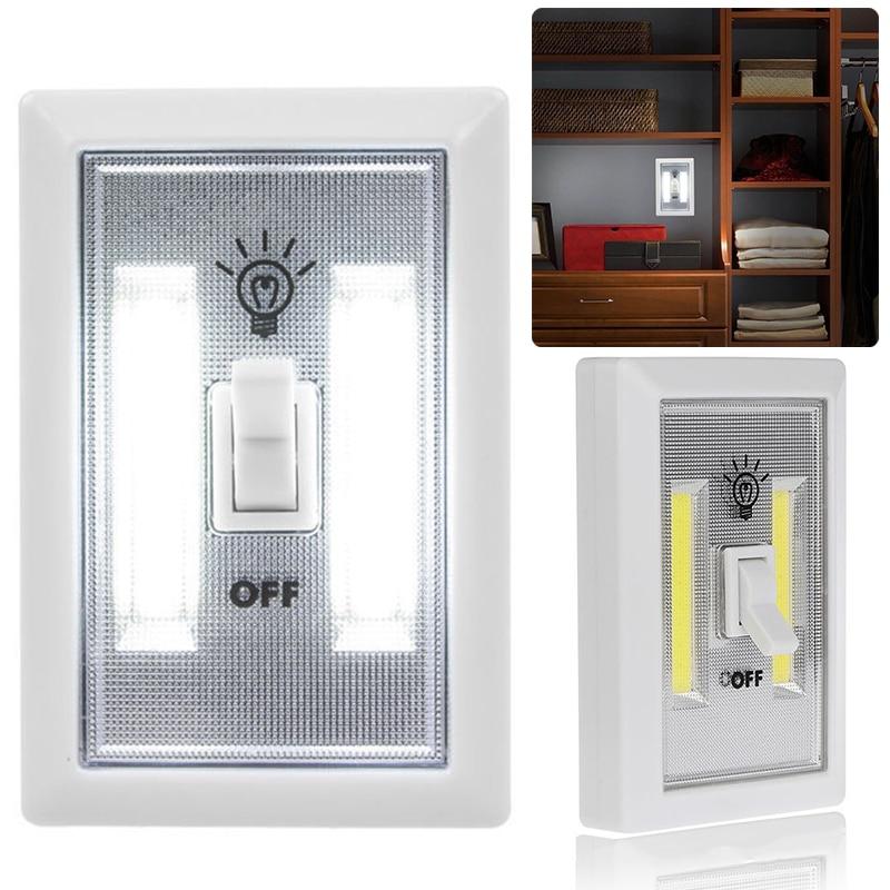 5pcs Newest Wireless Cob Led Wall Switch Closet Cordless