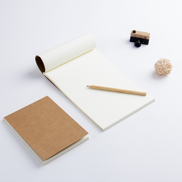 Kraft Sketchbook Diary For Drawing Painting Graffiti Soft  Memo Pad Notebook Office School Supplies Gift