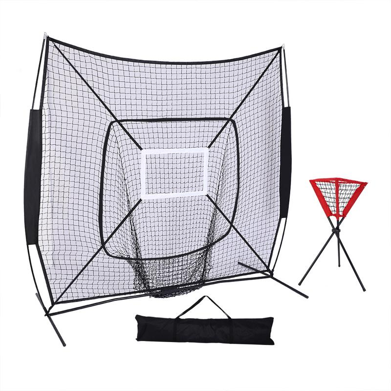 Baseball Train Net With Single Target Frame Outdoor Sports Accessories Ball Net Rack Baseball Supplies For Children Adult