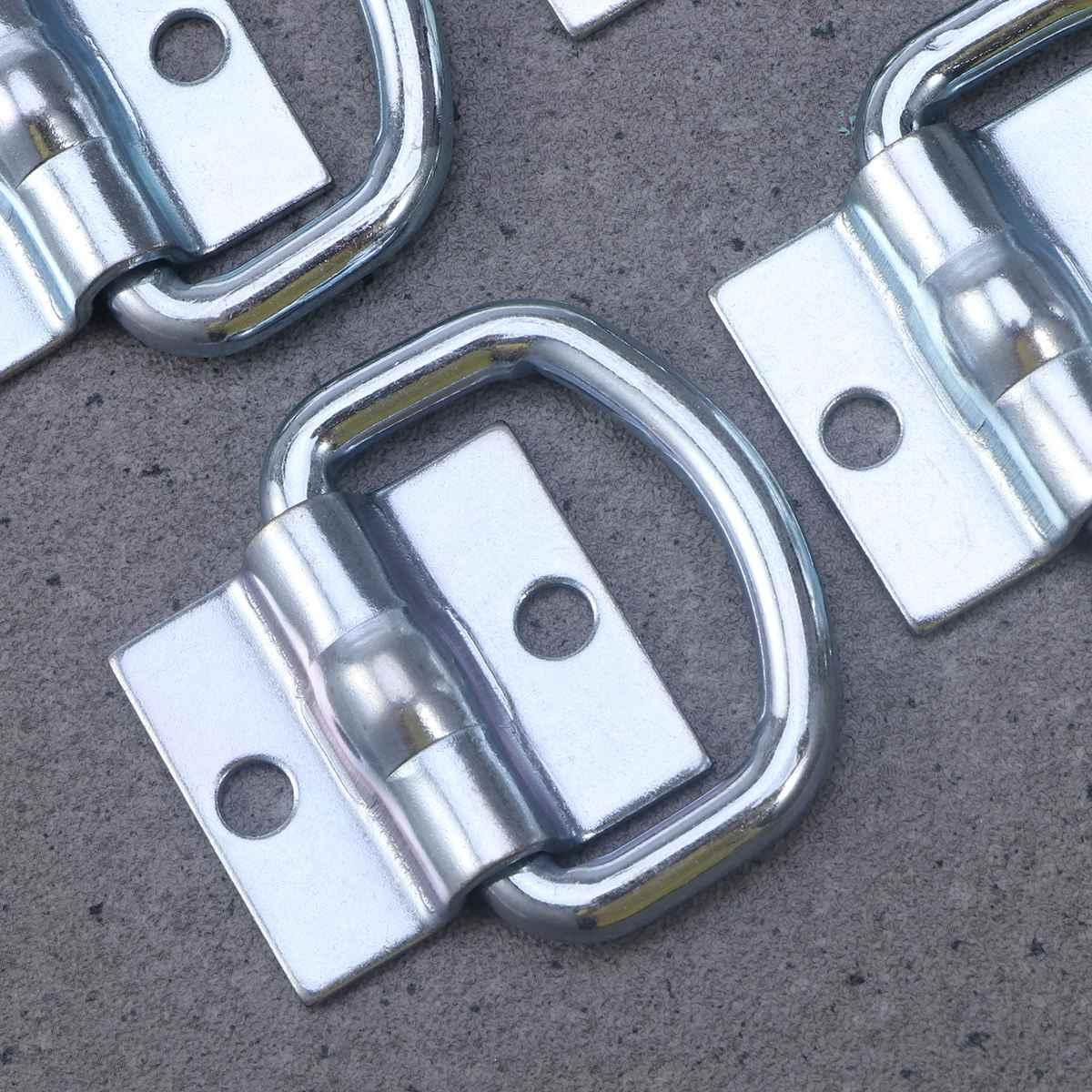 4 pcs D Âncora Anel de Amarração de Carga do reboque do carro Reboque Âncora Acessórios Forjados Anel De Amarração com Capacidade de 9600 Libras
