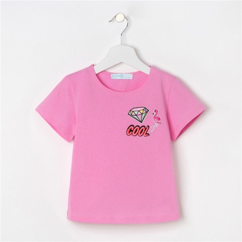 T-shirt for girls KAFTAN Diamond, pink, P. 34 (122-128 cm) 7-8 years free shiping high quality twill matte carbon fiber telescopic tubes cleaning pole max extend 7 8 meters long