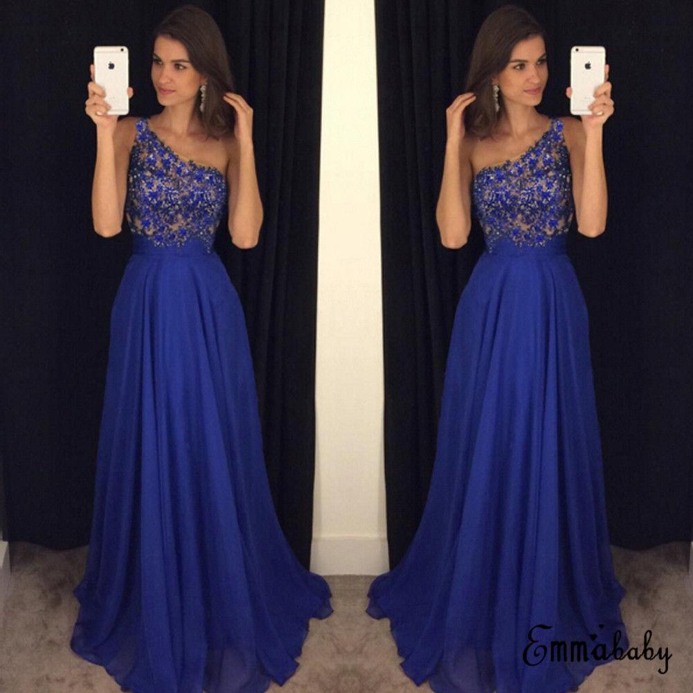 Elegant Hot Sexy Lace Royal Blue Sleeveless  Women Dress Long Maxi Dress Prom Evening Party Night Dresses hoodie