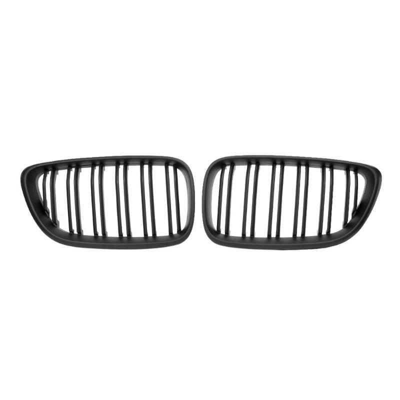 1 пара матовый черный автомобиль переднего бампера почек гриль решетки для 2 серии F22 F23 F87 M2 высокое качество передний бампер автомобиля реше...