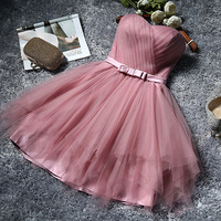 4 styles Girls Vestidos Pale Mauve Summer Dresses Elegant Vintage Pleated A line Evening Party Dress Formal Dress