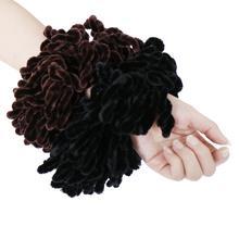แฟชั่นผู้หญิงมุสลิมยืด Twist Scrunchie หัว Hijab Turban Bandana Headwear อุปกรณ์เสริมผมวงยืดหยุ่น S4LIU ใหม่
