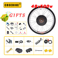Electric Bike Kit 500w Motor Wheel 48V 500W Bicycle Conversion  for 20-29inch 700c rear Hub orque sensor Conversion Kits