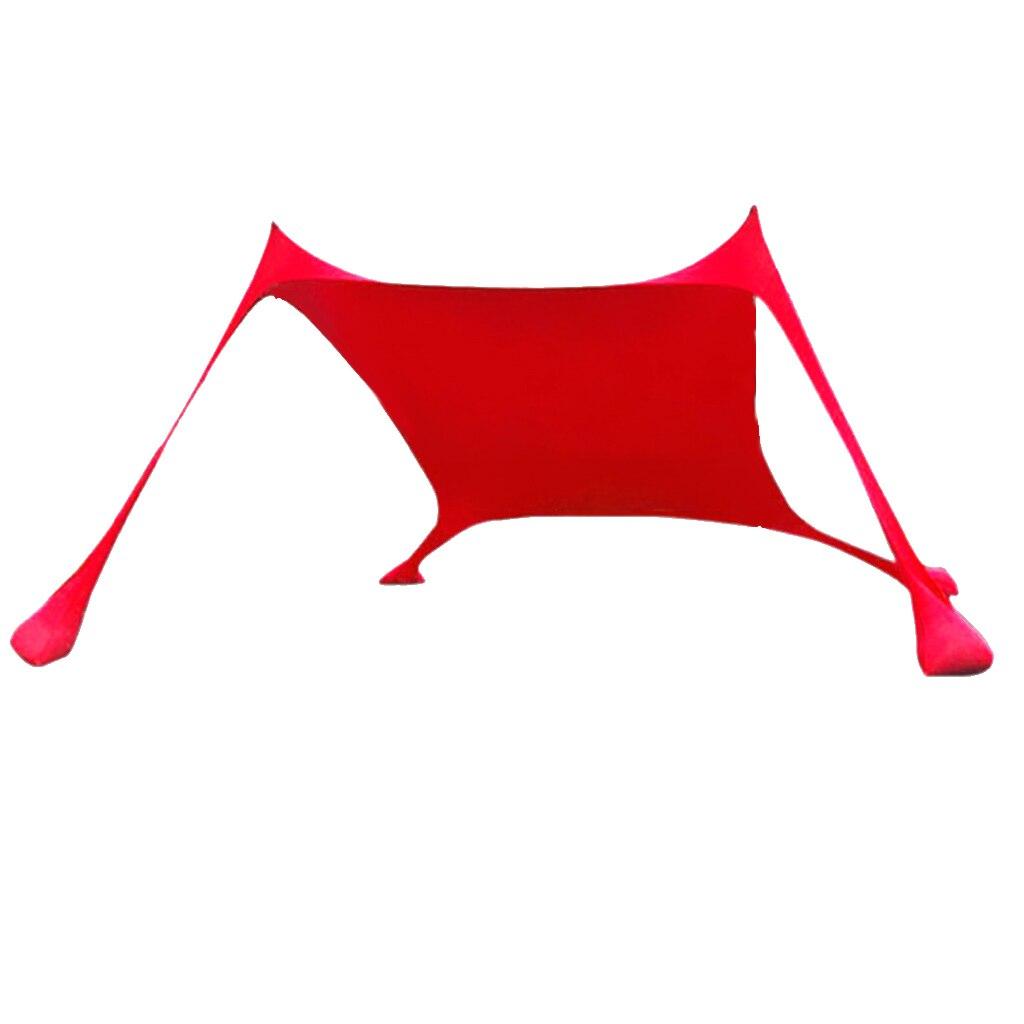Abri de soleil de bâche de tente Portable Pop Up auvent d'ombre de soleil de plage pour 3-4 personnes