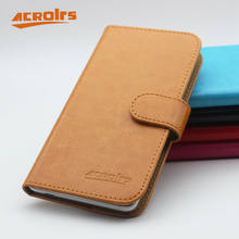 "Luxury Wallet Case For SANTIN V9 Case 5.5"" 6 Colors Flip Soft Leather Cover Fashion Phone Bag With Card Solts(China)"