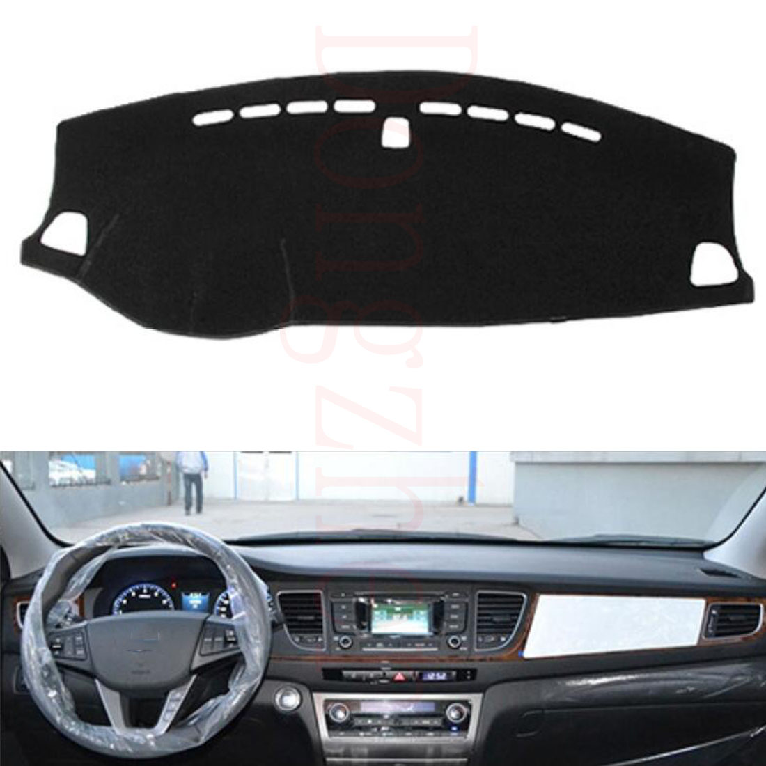 Dongzhen For HYUNDAI MISTRA 2014 to 2016 Car Dashboard Cover Avoid Light Pad Instrument Platform Dash Board Cover Car Sticker