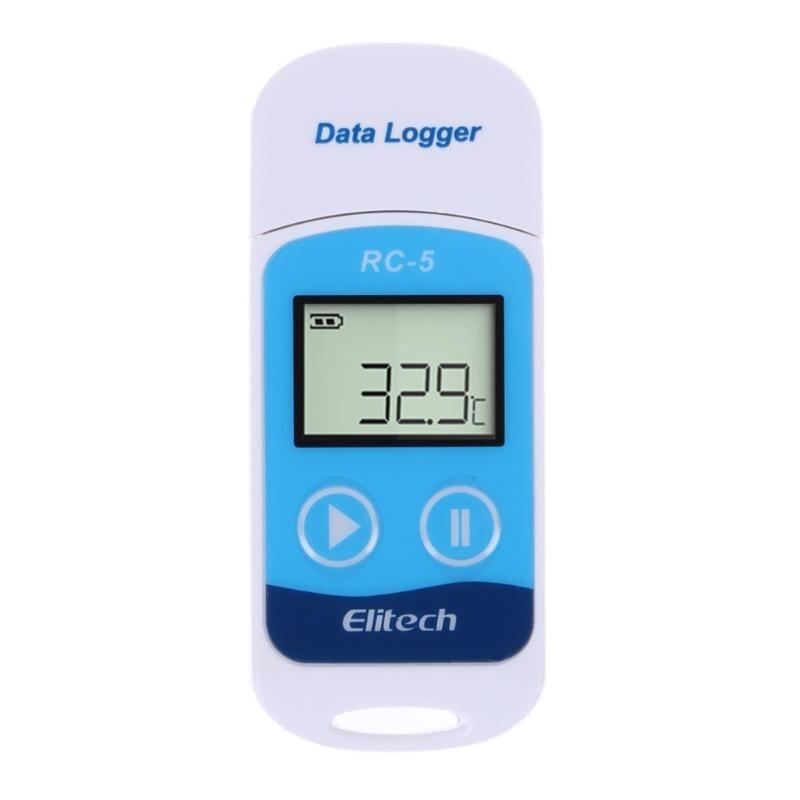 Mini registrador de dados temperatura usb temp recorder sensor interno ip67 digital gravador de temperatura termometro digital