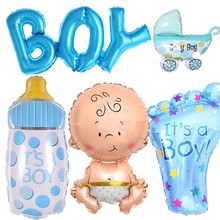 5 Pieces / Set Of Baby Birthday Theme Party Decorated Conjoined Aluminum Balloon Boy/girl Letter Foil Inflatable