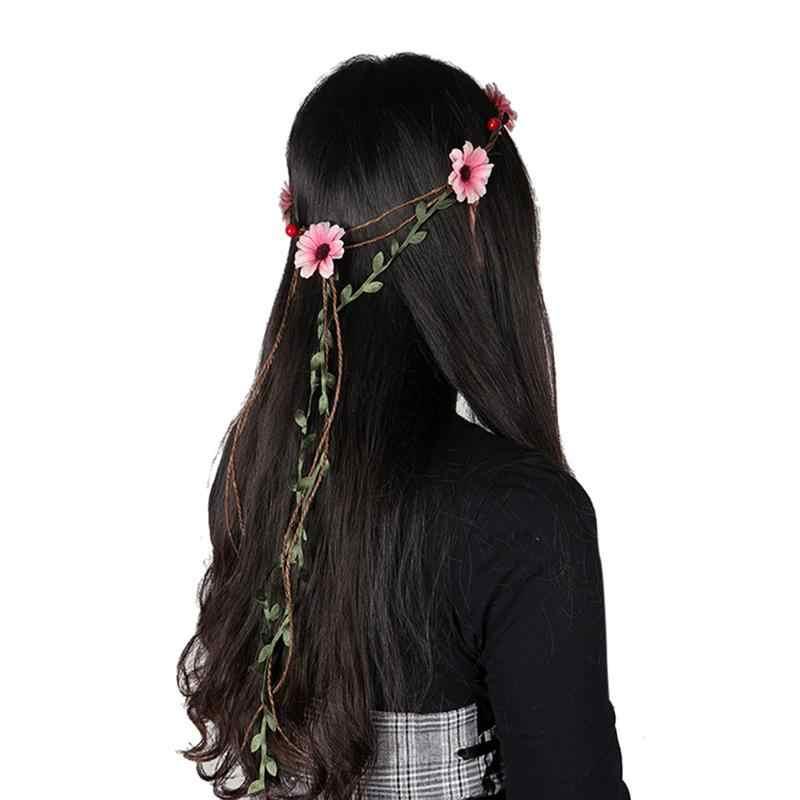 1 шт. повязка на голову искусственный цветок Гавайский головной убор волос венок-Гирлянда для пляжа вечерние свадебные праздники