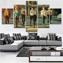 5 Pieces HD Print Large BTS Band Poster Modern Decorative Paintings on Canvas Wall Art for Home Decorations Decor