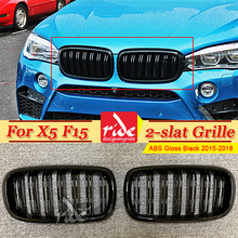 X5 F15 Front Grille ABS Gloss Black M-Style For Double Slats Kidney SUV vehicle xDrive50i xDrive30d 2015-in