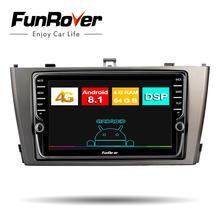 Funrover 4G + 64G Android 8,1 автомобильный Радио мультимедийный плеер для Toyota Avensis 2009-2013 2 din gps навигация dvd-плеер стерео DSP