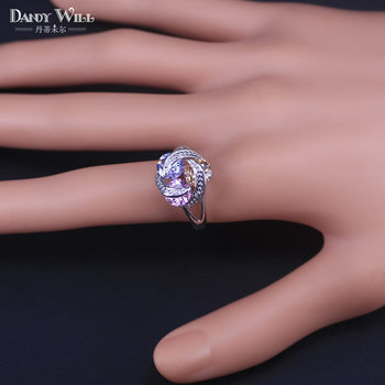 Colorful Jewelry Sets Cubic Zirconia CZ Stone 925 Sterling Silver Earrings Necklaces Finger Rings 1