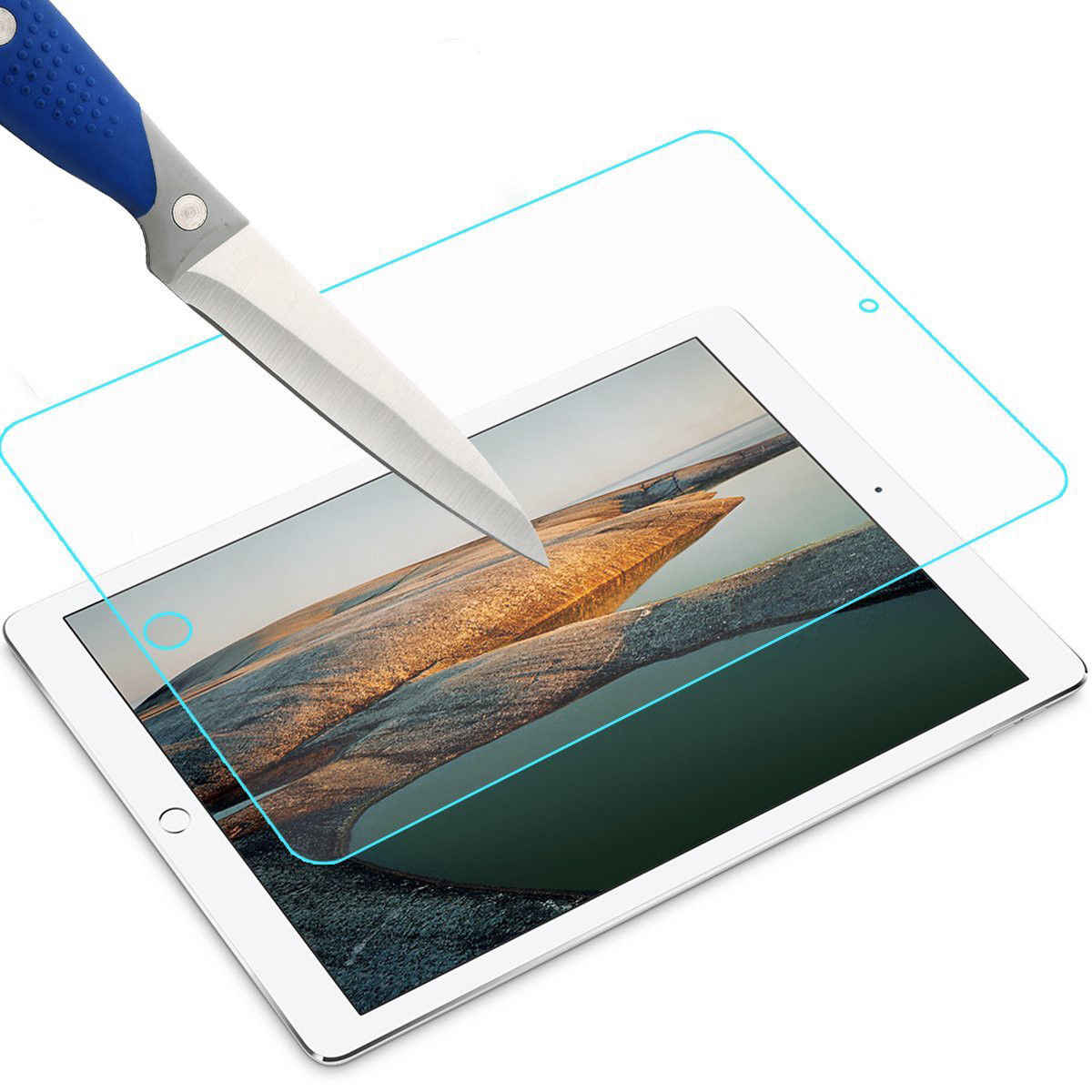 For iPad Pro 9.7 inch 2pcs Screen Protector Tempered Glass For New iPad Screen Protective Film Cover Glass Tablet Glass Film
