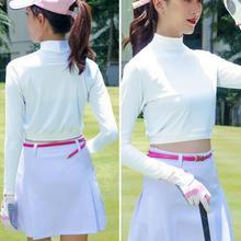 Base-Shirt Long-Sleeve Golf Women Breathable Sun-Protection Ice-Silk Elastic Quick-Drying