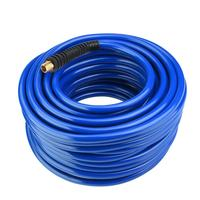 30M Blue Flexible Pneumatic PVC Hose with NPT Quick Connector for Air Compressor