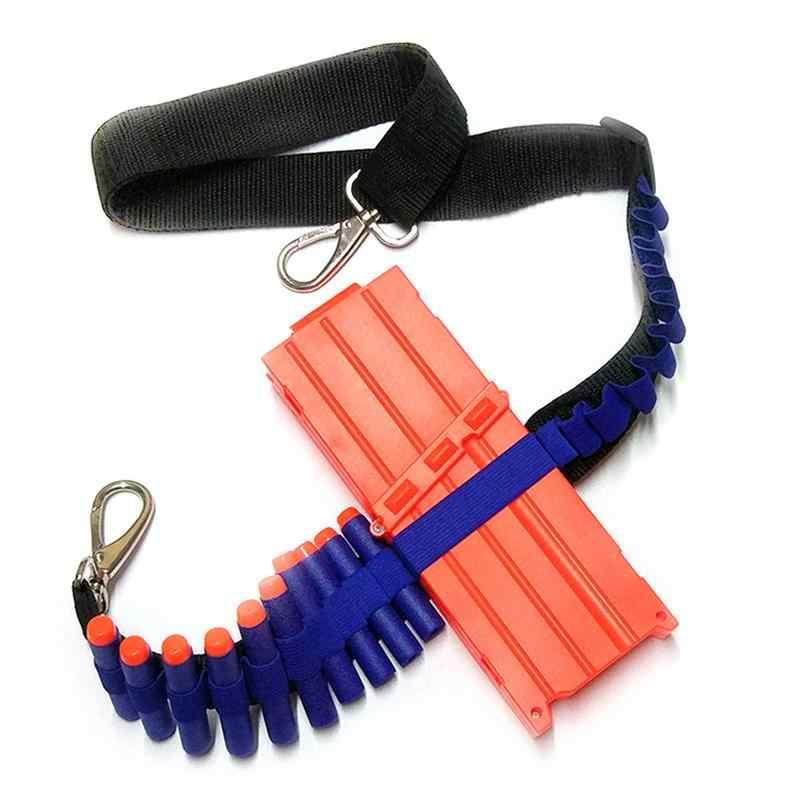 Для NERF Регулируемый тактический клип бретели для нижнего белья в состоянии провести 20 шт. мягкие пули и одна пуля клип аксессуары для игрушечного пистолета пистолет б