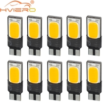 10X Red White Blue Pink Canbus Error Free T10 194 W5W COB LED Car Auto Wedge Lights Parking Bulb Trunk Lamp DC 12V Signal Light