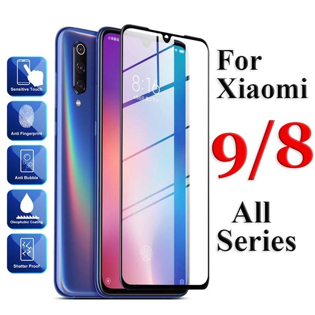 Protective Glass On Ksiomi Mi 9 se For Xiaomi 8 Lite Se Explorer Tempered Safety Glas Xiomi Mi9 Mi8 8lite Full Cover Sheet Case