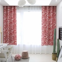 New 140x215cm Waterproof Curtains Baroque Style Red Bedroom Children's Room Window Curtains For Living Room Home Decoration