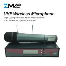 ZMVP Профессиональный 135 G2 UHF беспроводной микрофон караоке система с рукояткой беспроводной передатчик для живого вокала речевой сцены