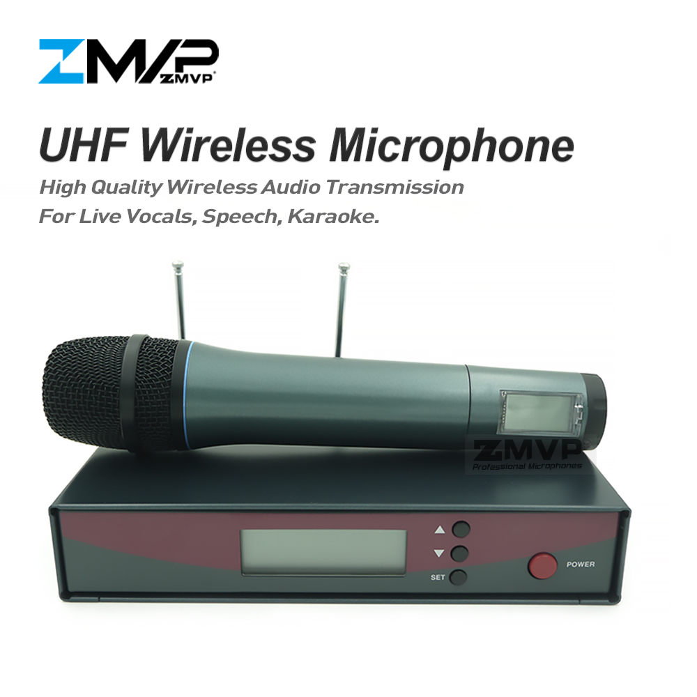 ZMVP Professional 135 G2 UHF Wireless Microphone Karaoke System with Handhold Wireless Transmitter for Live Vocals Speech Stage zmvp p24 m58 uhf professional wireless microphone system with m58 handheld transmitter mic for stage live vocals karaoke speech