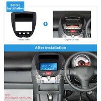 Harfey 2Din Car Stereo Frame Cover Radio Fascia Trim Kit For Toyota Aygo Citroen C1 Peugeot 107 CD Install Dash Panel 178*100mm Fascias     -