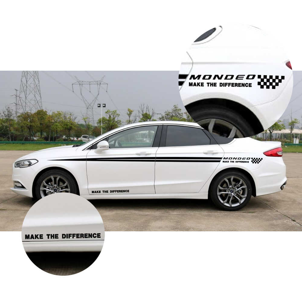 Hatchback decals for ford mondeo car side body decal word stickers custom car decals diy decoration