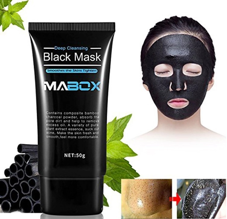 MABOX Bamboo Charcoal Black Mask Face Care Deep Cleansing Purifying Blackhead 3 Steps Black Head Remover Acne Nose Mask-in Treatments & Masks from Beauty & Health