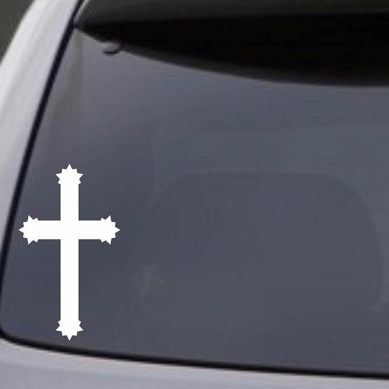 JESUS FISH Vinyl Decal Sticker Car Window Wall Bumper God Religious Symbol Cross