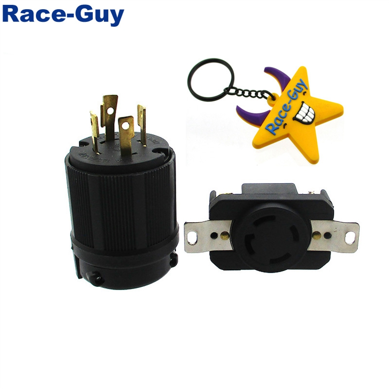 4 Prong Receptacle Twist Lock Socket Plug 30amp 125  250v Nema L14 30r Ul Approval For Generator